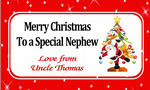 Personalised Christmas Chocolate Bar Wrapper  Design 4